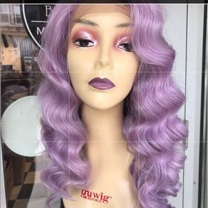 Accessories - Purple Kaity Perry Lacefront wig 4X4 Freepart Wig